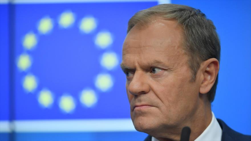 El presidente del Consejo Europeo (CE), Donald Tusk, en una conferencia de prensa en Bruselas, capital belga, 13 de diciembre de 2018. (Foto: AFP)