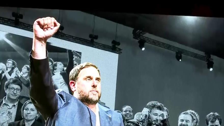 Conferencia política de Oriol Junqueras en vísperas de su juicio | HISPANTV