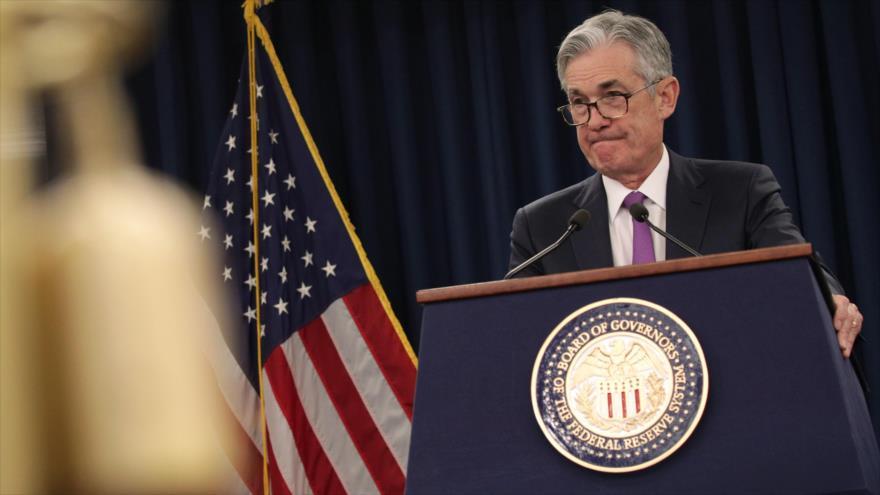 El presidente de la Reserva Federal de EE.UU., Jerome Powell, durante una rueda de prensa en Washington D.C., 30 de enero de 2019. (Foto: AFP)