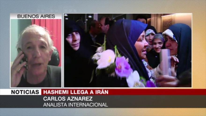 Aznarez: Justicia de EEUU que permitió arrestar a Hashemi es racista