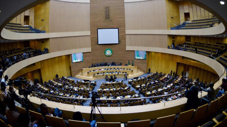 Una vista general de la sesión plenaria de la Asamblea de la Unión Africana en Adís Abeba, Etiopía, 17 de noviembre de 2018. (Foto: AFP)