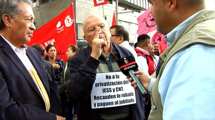 Aliados de Lenín Moreno en Ecuador marchan en su contra