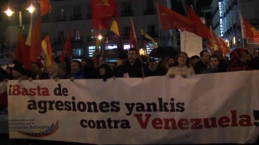 Concentración de apoyo a Maduro en España
