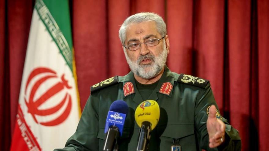 El general Abolfazl Shekarchi, portavoz de las Fuerzas Armadas de Irán.