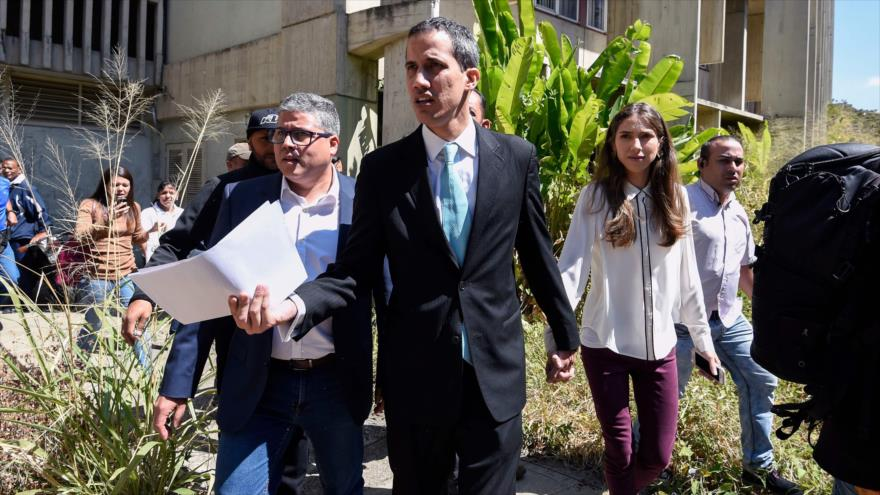 El golpista Guaidó no rechaza intervención militar de EEUU en Venezuela