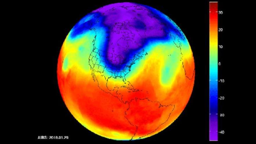 La invasión de EE.UU. por el vórtice polar.