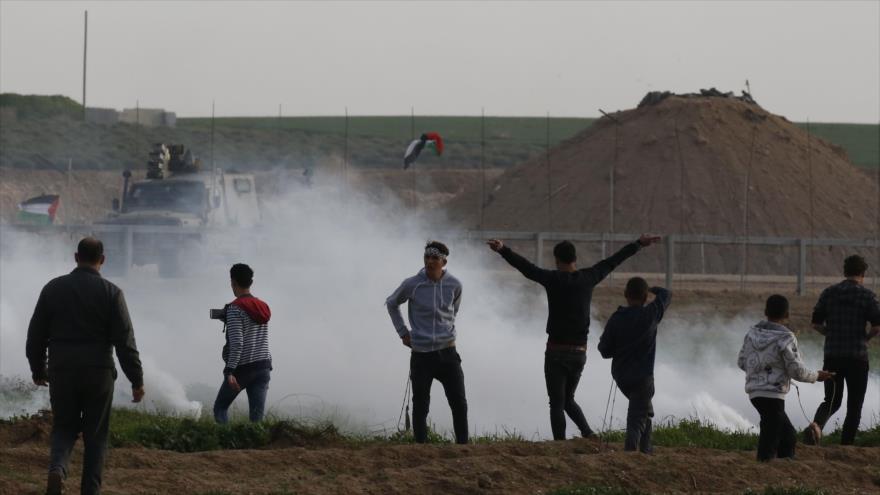 Más de 30 palestinos heridos en 45.º viernes de protestas en Gaza | HISPANTV