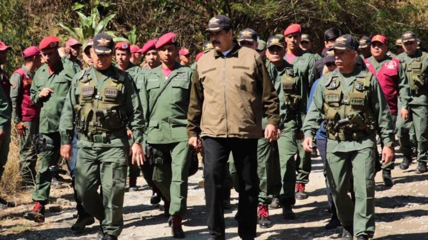 Maduro pide reforzar inteligencia militar ante plan golpista de EEUU