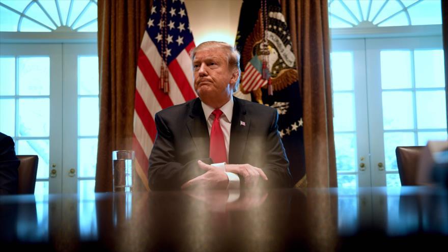 El presidente de EE.UU., Donald Trump, en una reunión oficial en la Casa Blanca, en Washington, EE.UU., 1 de febrero de 2019. (Foto: AFP)