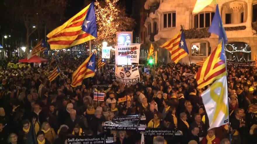 Protestas en Cataluña por traslado de presos políticos a Madrid