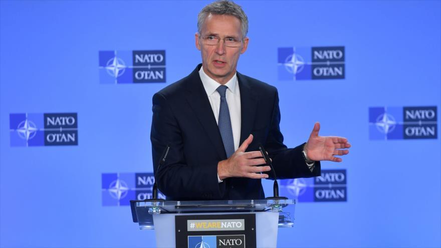 El secretario general de la OTAN, Jens Stoltenberg, habla durante una conferencia de prensa en Bruselas (Bélgica), 25 de enero de 2019. (Foto: AFP)