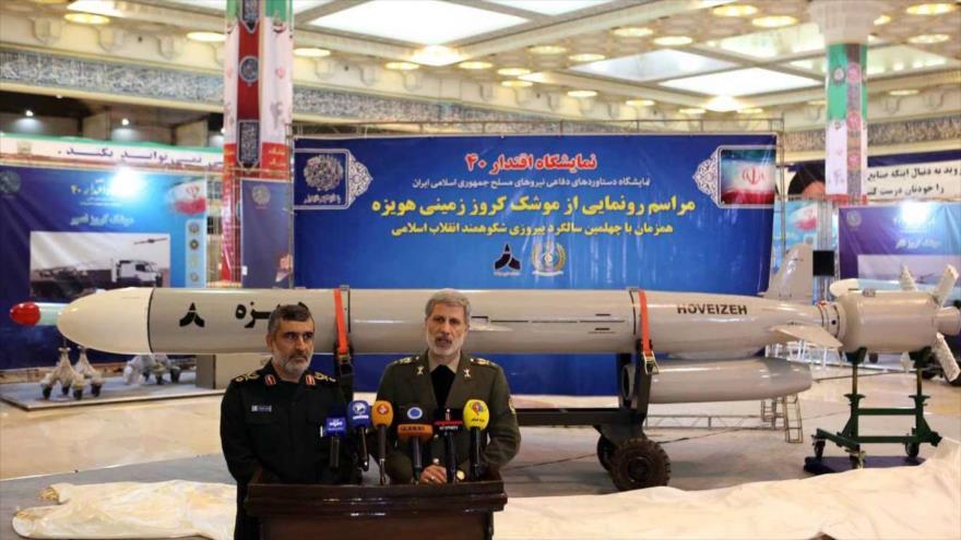 Irán presenta misil crucero de superficie a superficie 'Hoveizeh'