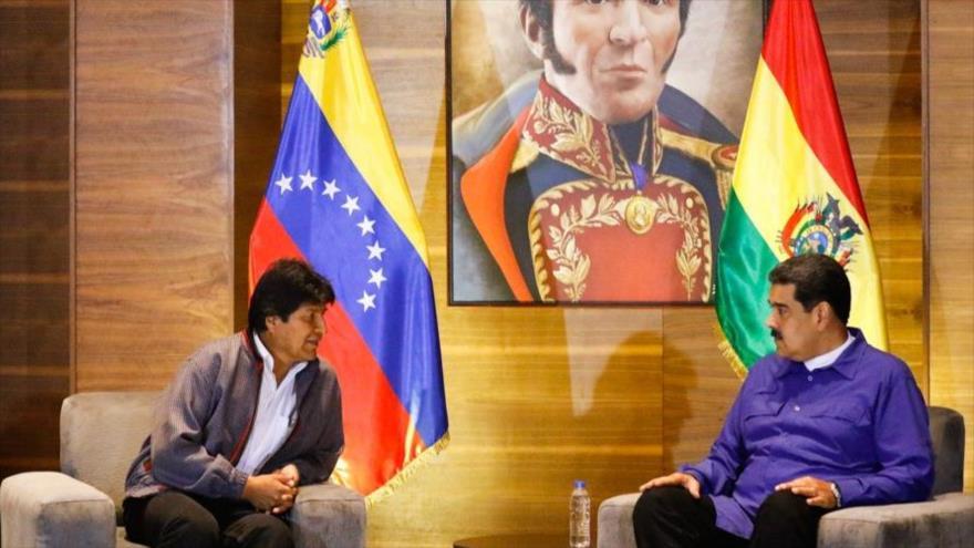 Morales apoya a Maduro ante el golpismo intervencionista de EEUU