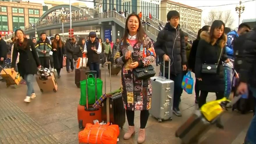 Millones de personas vuelven a casa por año nuevo en China