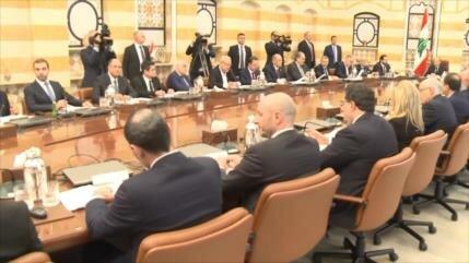 Primera reunión de Gobierno de unidad nacional de El Líbano