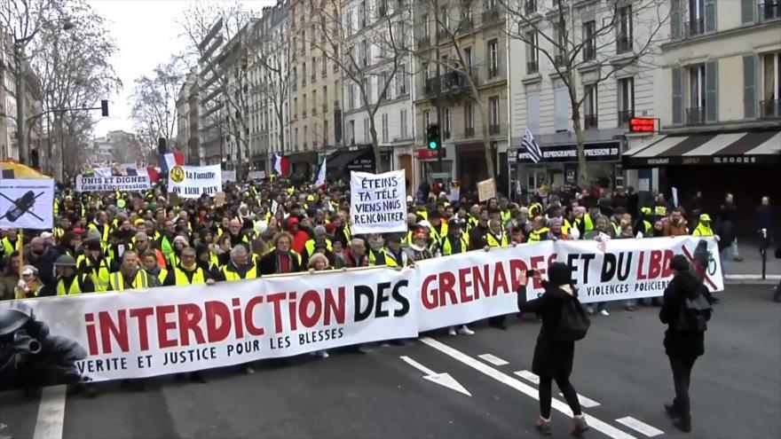 Nuevos choques en protestas de los 'chalecos amarillos' en Francia | HISPANTV