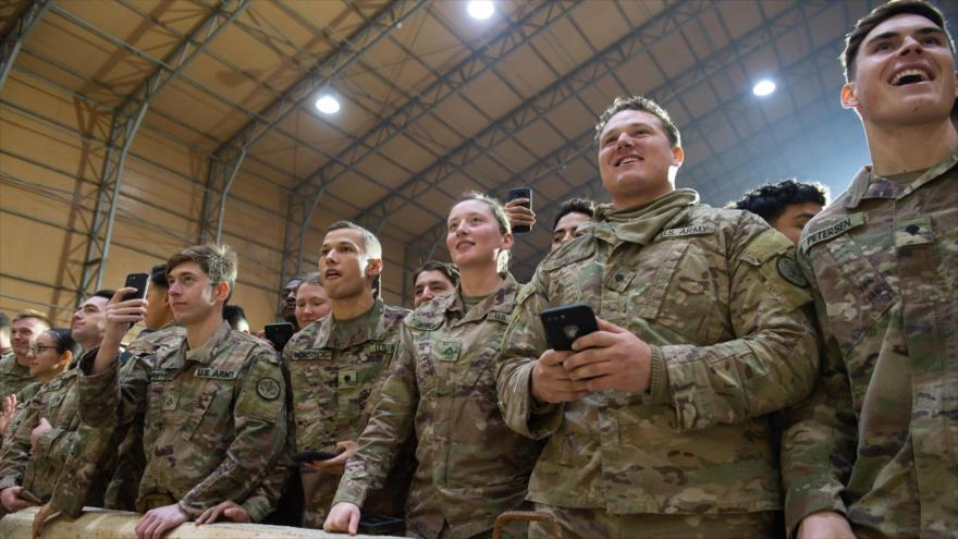 Los uniformados estadounidenses en la base aérea de Ain Al-Asad, en Irak, 26 de diciembre de 2018. (Foto: AFP)