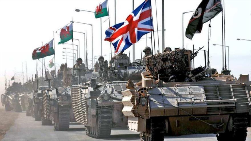 Un convoy militar británico en la ciudad de Basora, en el sur de Irak, en 2007.