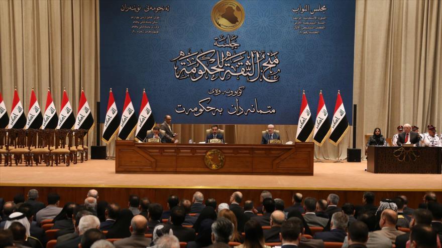Una sesión del Parlamento iraquí, cuya sede se halla en Bagdad (la capital), 4 de octubre de 2018. (Foto: AFP)
