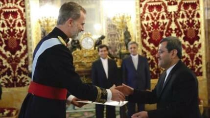 Nuevo embajador iraní en España entrega su carta credencial al rey