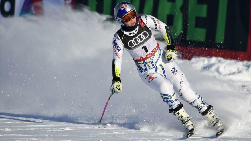 Vídeo muestra la caída de esquiadora estadounidense a 100 km/h