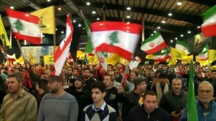 Hezbolá conmemora en Beirut triunfo de Revolución Islámica iraní