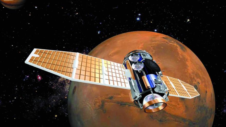 Un satélite en Marte