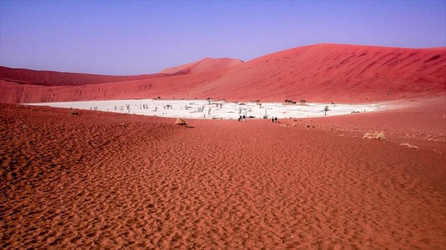 Una zona desértica en Namibia.