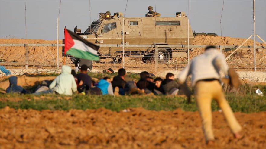 Los palestinos protestan contra los crímenes de Israel en la Franja de Gaza, 21 de diciembre de 2018. (Foto: AFP)