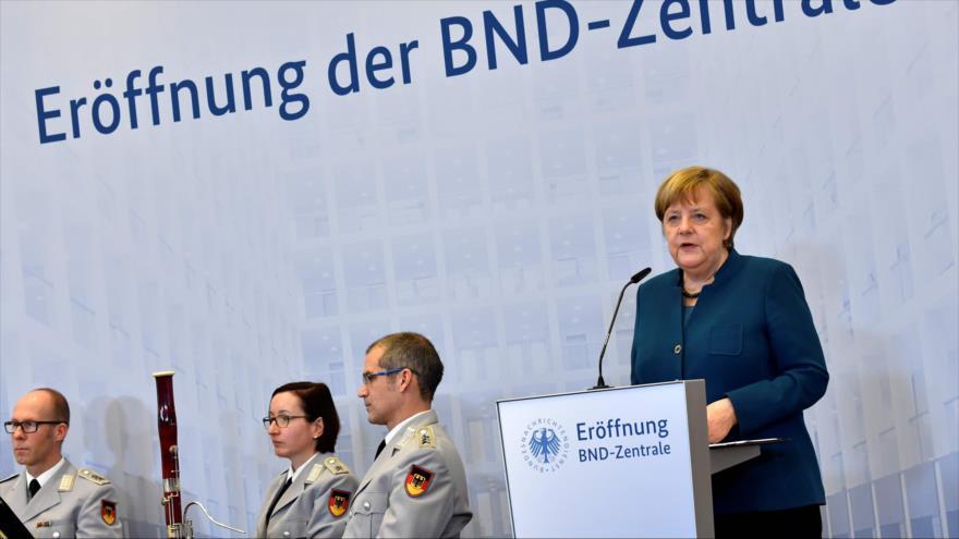 La canciller alemana, Angela Merkel, habla en una rueda de prensa en Berlín, capital de Alemania, 8 de febrero de 2019. (Foto: AFP)
