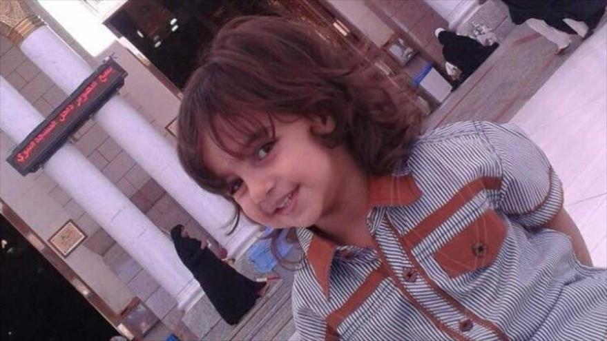 Zakariya Bader al-Jabir, niño que fue degollado por un conductor saudí en Medina, 27 de enero de 2019.