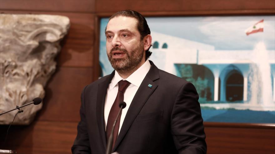 El primer ministro libanés, Saad Hariri, ofrece una rueda de prensa en palacio presidencial en Baabda, este de Beirut, 31 de enero de 2019. (Foto: AFP)