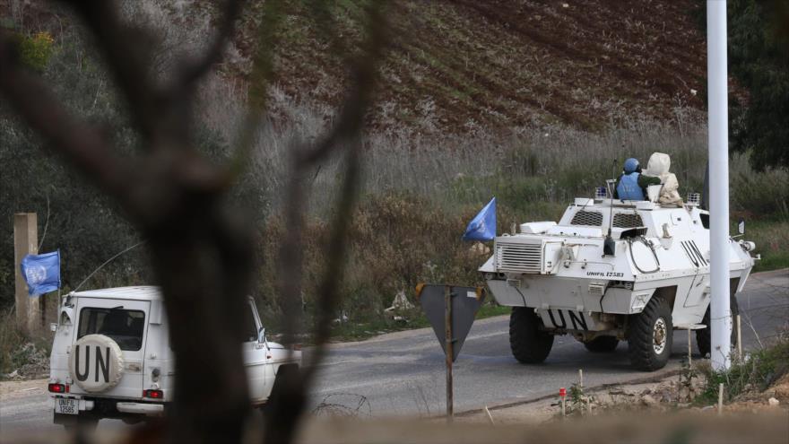 Convoy de Fuerza Provisional de las Naciones Unidas para El Líbano (UNIFIL), en la frontera entre El Líbano y Territorios Ocupados de Palestina, 5 de diciembre de 2018. (Foto: AFP)