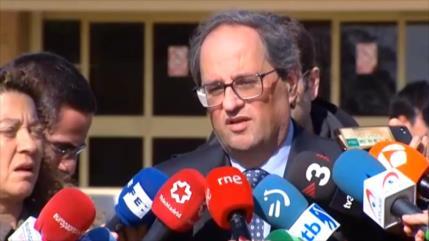 Torra visita a líderes independentistas encarcelados en Madrid