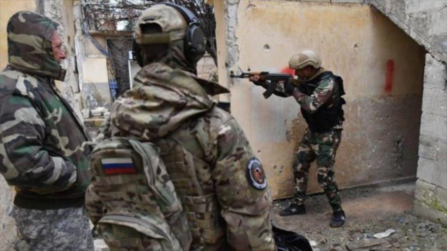 Fotos: Instructores militares rusos entrenan a soldados sirios
