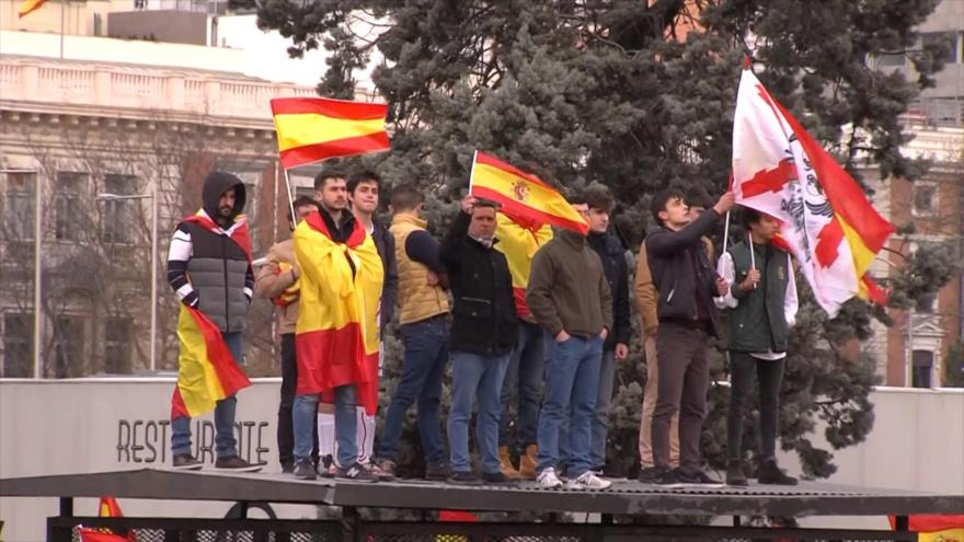 La derecha española pide elecciones anticipadas