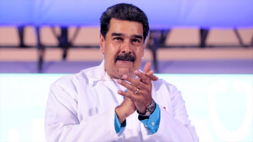 El presidente de Venezuela, Nicolás Maduro, durante un acto en Caracas (capital), 6 de febrero de 2019.