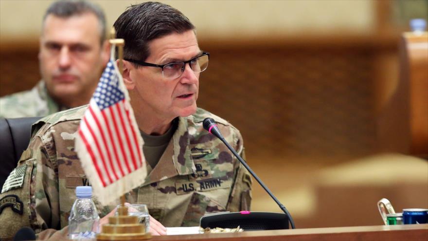 El jefe del Comando Central de EE.UU. (Centcom), Joseph Votel, en una reunión del Consejo de Cooperación del Golfo en Kuwait, 12 de septiembre de 2018.