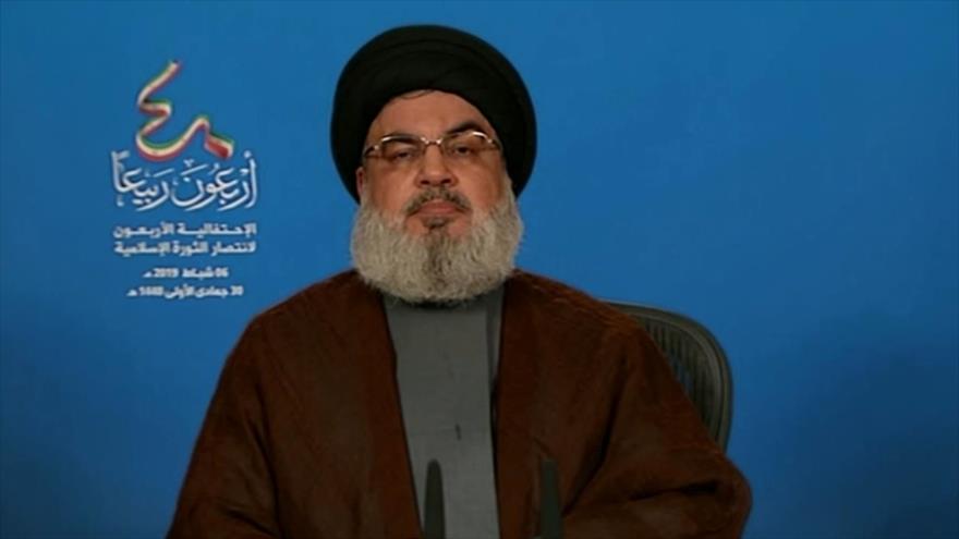 Nasralá alaba los logros de Revolución Islámica de Irán
