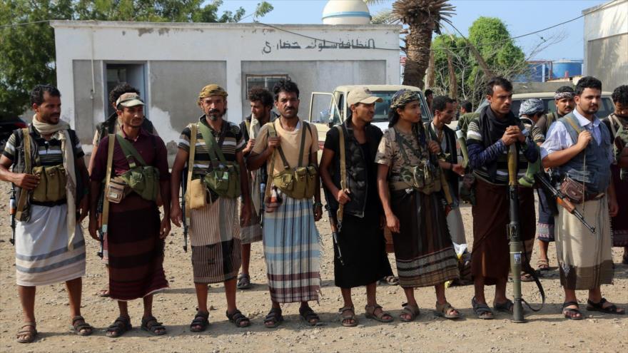 Combatientes del movimiento popular yemení Ansarolá en la ciudad de Al-Hudayda, 8 de enero de 2019. (Fuente: AFP)