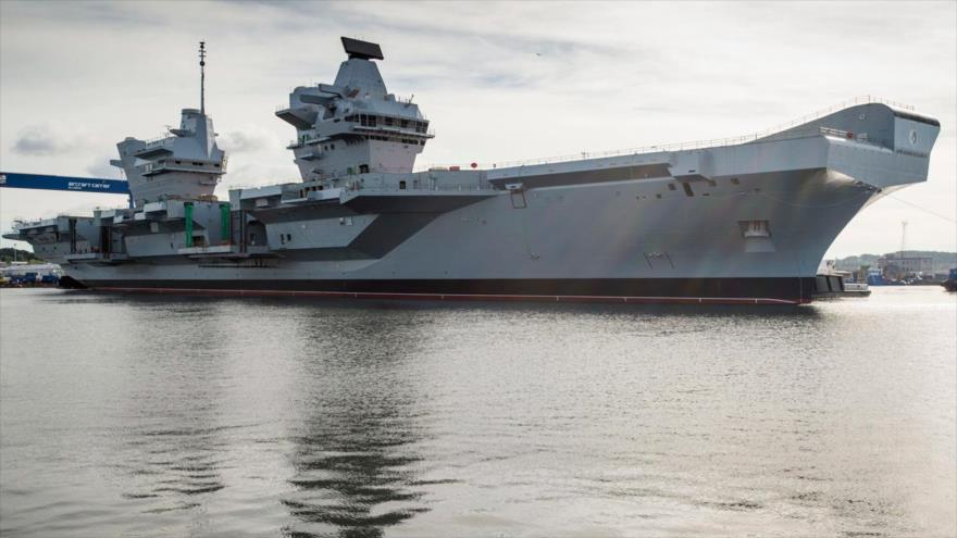 El portaviones Queen Elizabeth de las fuerzas navales del Reino Unido.