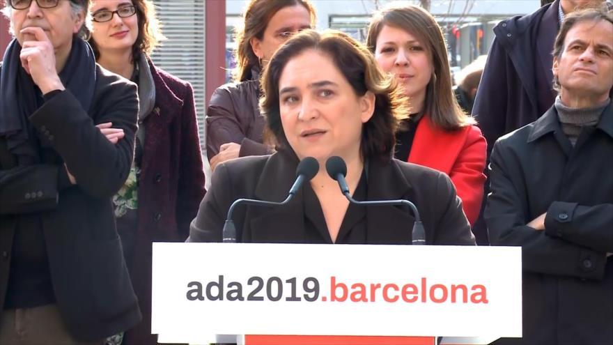 Colau presenta candidatura para revalidar alcaldía en Barcelona