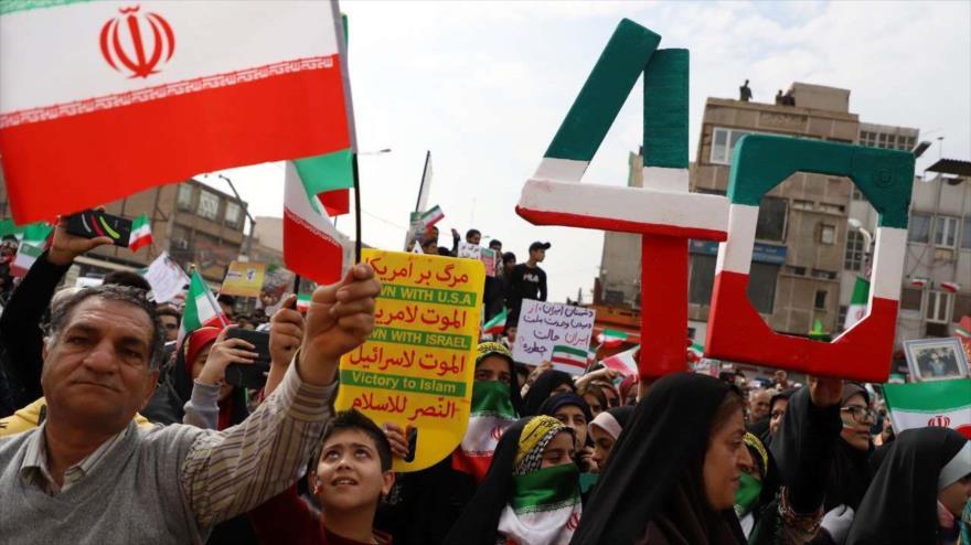 Iraníes celebran el 40.º aniversario del triunfo de la Revolución Islámica en Ahvaz, suroeste del país, 11 de febrero de 2019. (Foto: IRNA)