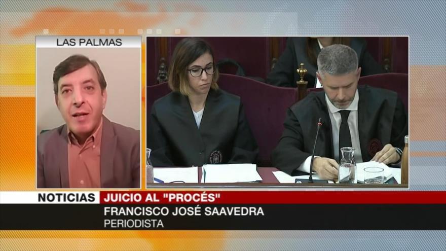 Saavedra: Juicio al independentismo muestra división en España