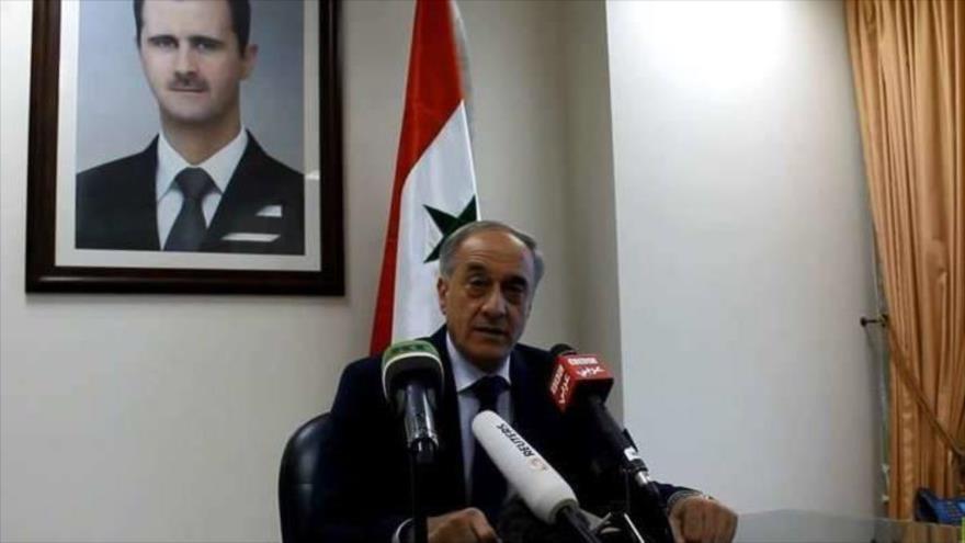 El viceministro de Expatriados y Asuntos Exteriores de Siria, Ayman Susan.