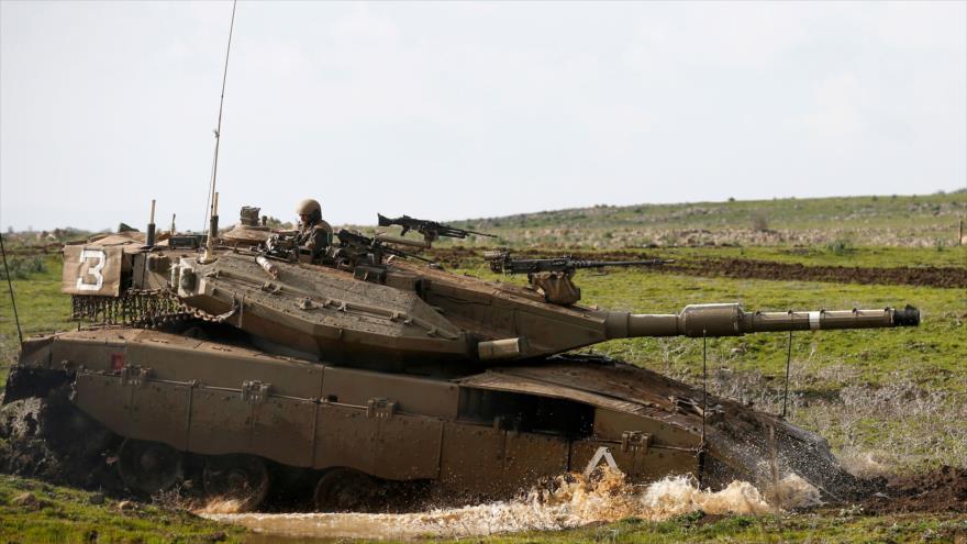 Régimen israelí realiza ejercicios militares en altos del Golán
