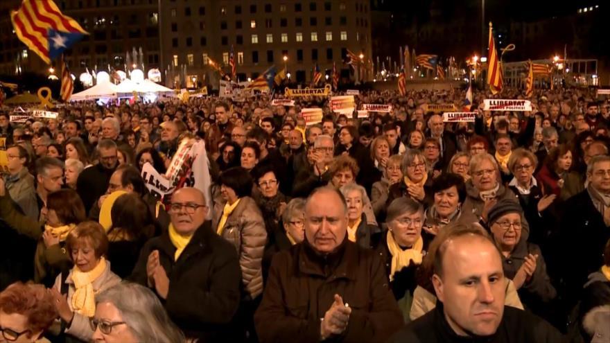 Protestas en Cataluña contra el juicio a líderes independentistas | HISPANTV