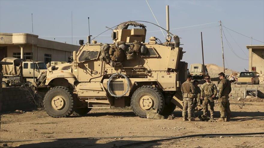 Soldados estadounidenses en una base militar en el sur de la ciudad de Mosul, Irak.
