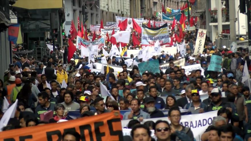 Paro nacional en Ecuador contra el Gobierno y a favor de Venezuela
