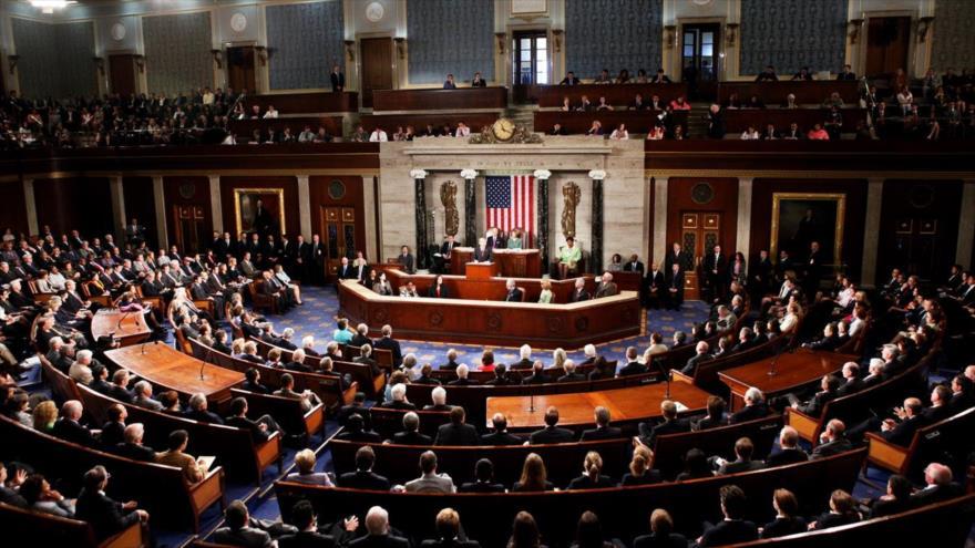 Una sesión plenaria del Senado estadounidense.